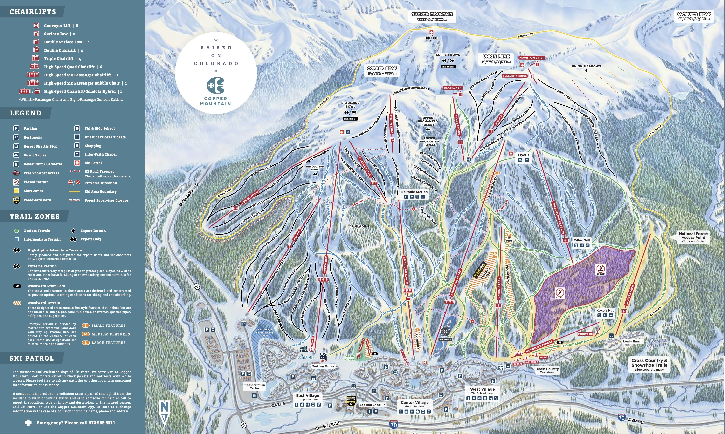 Copper Mountain Resort Trail Map | OnTheSnow
