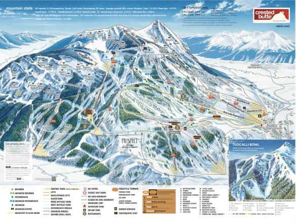 Crested Butte Mountain Resort Plan des pistes