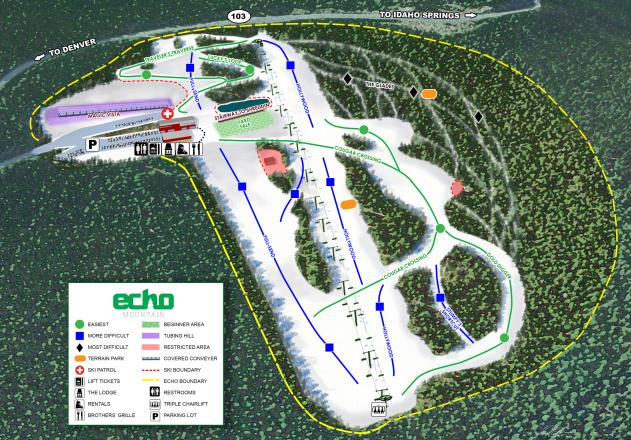 Echo Mountain Plan des pistes