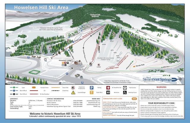 Howelsen Hill Trail Map | OnTheSnow