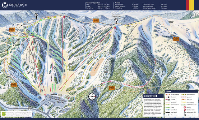 Monarch Mountain Trail Map