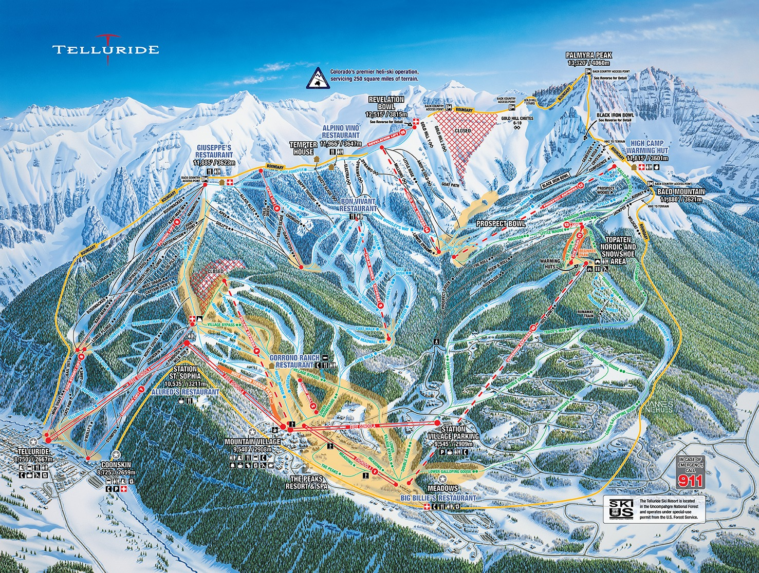 Telluride Trail Map | OnTheSnow