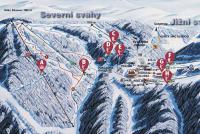 Červenohorské sedlo Mappa piste
