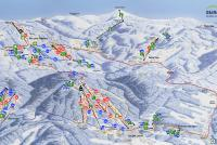 Černá hora - Janské Lázně Mapa tras