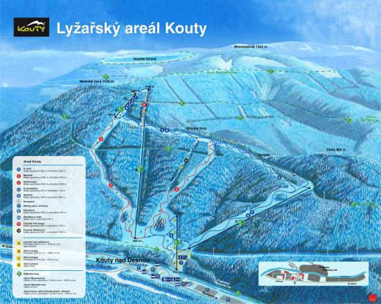 Kouty nad Desnou Trail Map