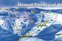 Paseky nad Jizerou Mappa piste