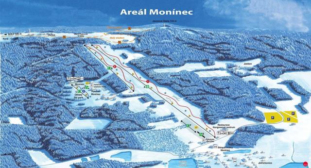 Monínec Trail Map