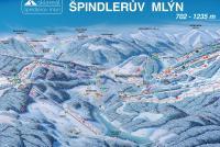 Špindlerův Mlýn Trail Map