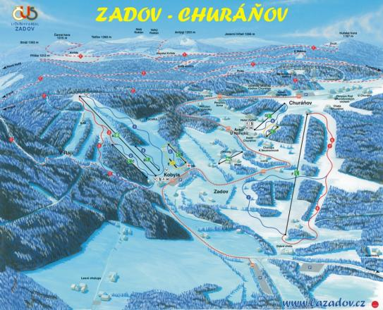 Zadov Trail Map