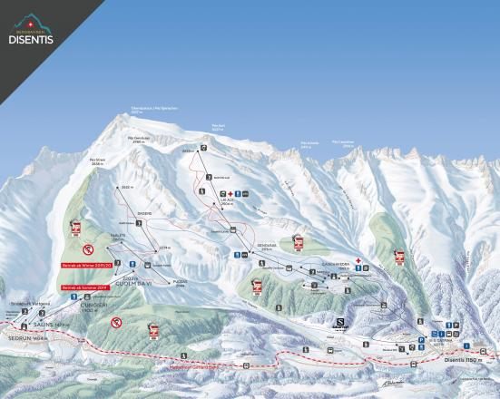 Disentis 3000 Trail Map