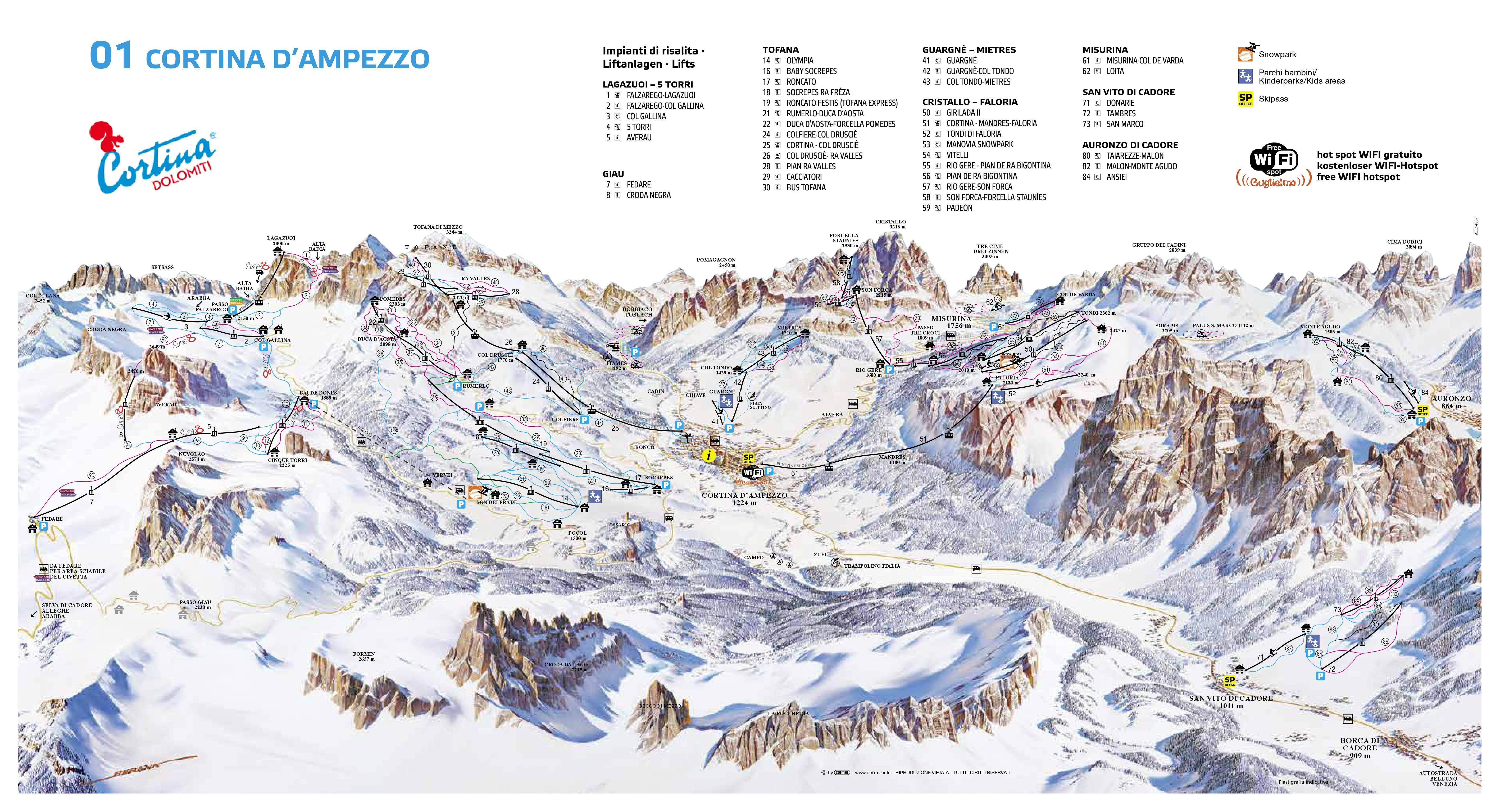 cortina d'ampezzo trail map | onthesnow