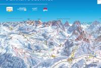 3 Peaks Dolomites Piste Map