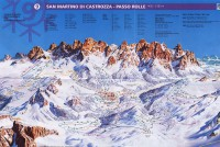 Passo Rolle Piste Map