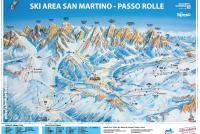San Martino di Castrozza - Passo Rolle Trail Map