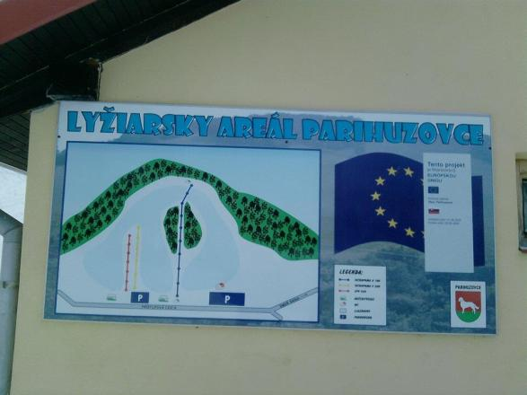 Parihuzovce Trail Map