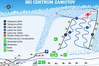 Ski Zámutov Trail Map