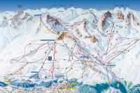 St. Moritz - Corviglia Pistenplan