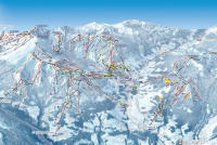 Combloux Piste Map