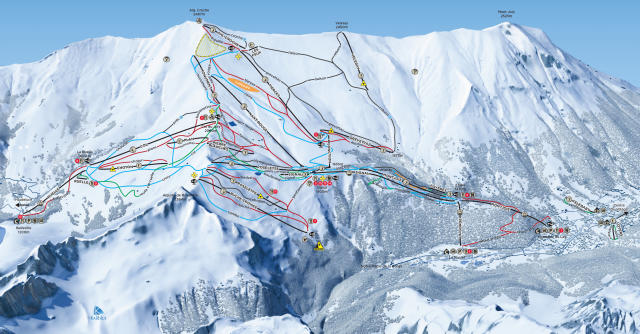 Les Contamines Montjoie Piste Map