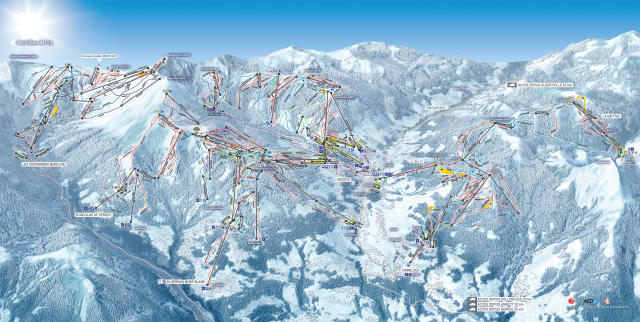 Saint Gervais Mont-Blanc Trail Map