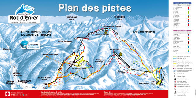 Saint Jean d'Aulps Piste Map