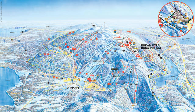 Ruka Trail Map