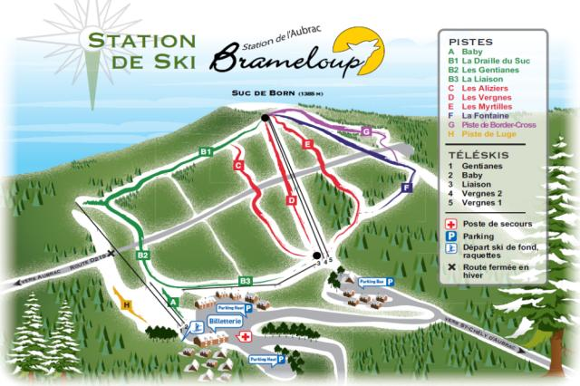Brameloup Trail Map