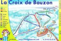 La Croix de Bauzon Mappa piste