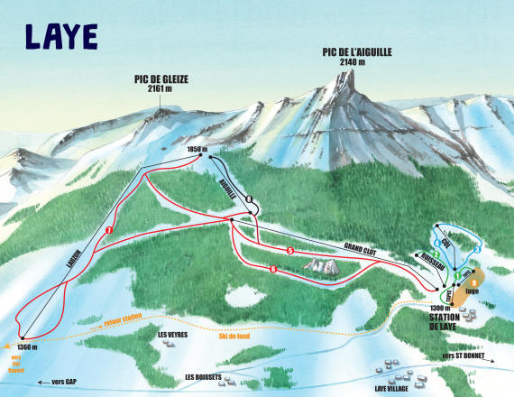 Laye en Champsaur Trail Map