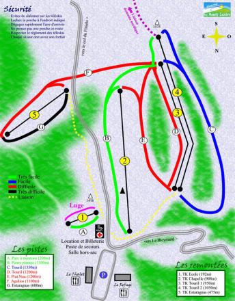 Le Bleymard - Mont Lozère Trail Map