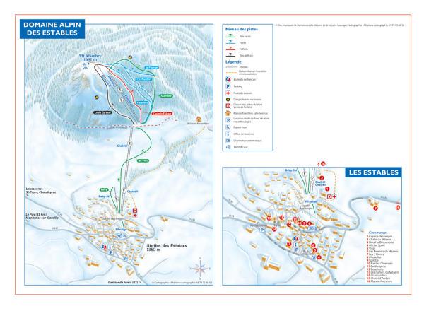 Les Estables - Mézenc Mappa piste