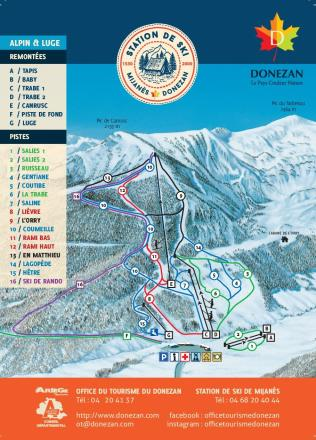 Mijanès - Donezan Trail Map