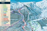 Mijanès - Donezan Plan des pistes