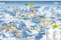 Bad Hofgastein - Skischaukel Schlossalm-Angertal-Stubnerkogel Mapa de pistas