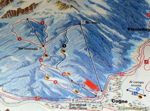 Cogne Trail Map