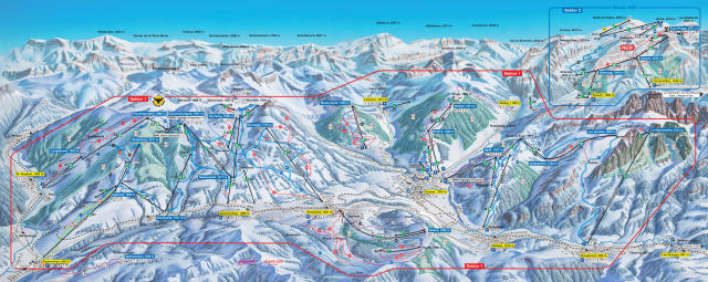 Gstaad - Saanen - Rougemont Trail Map