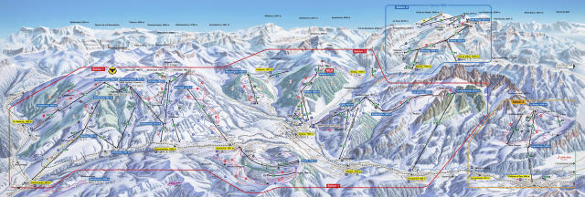 Saanenmöser Trail Map