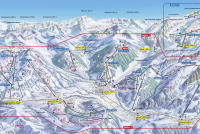 Gstaad - Saanenmöser - Schönried - Zweisimmen Pistenplan