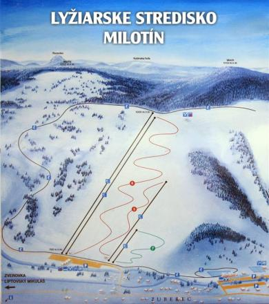 Zuberec - Milotín Trail Map
