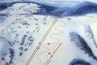 Zuberec - Milotín Mapa de pistas