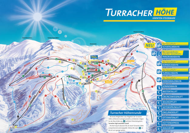 Turracher Höhe Trail Map