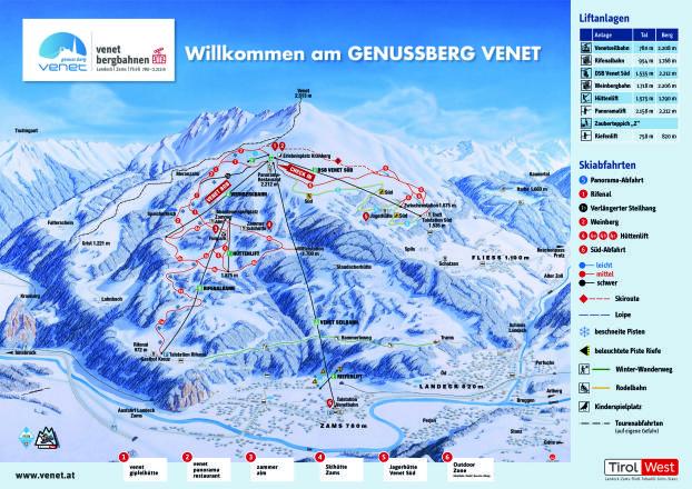 Venet Trail Map
