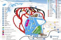 Hlidarfjall Mapa zjazdoviek