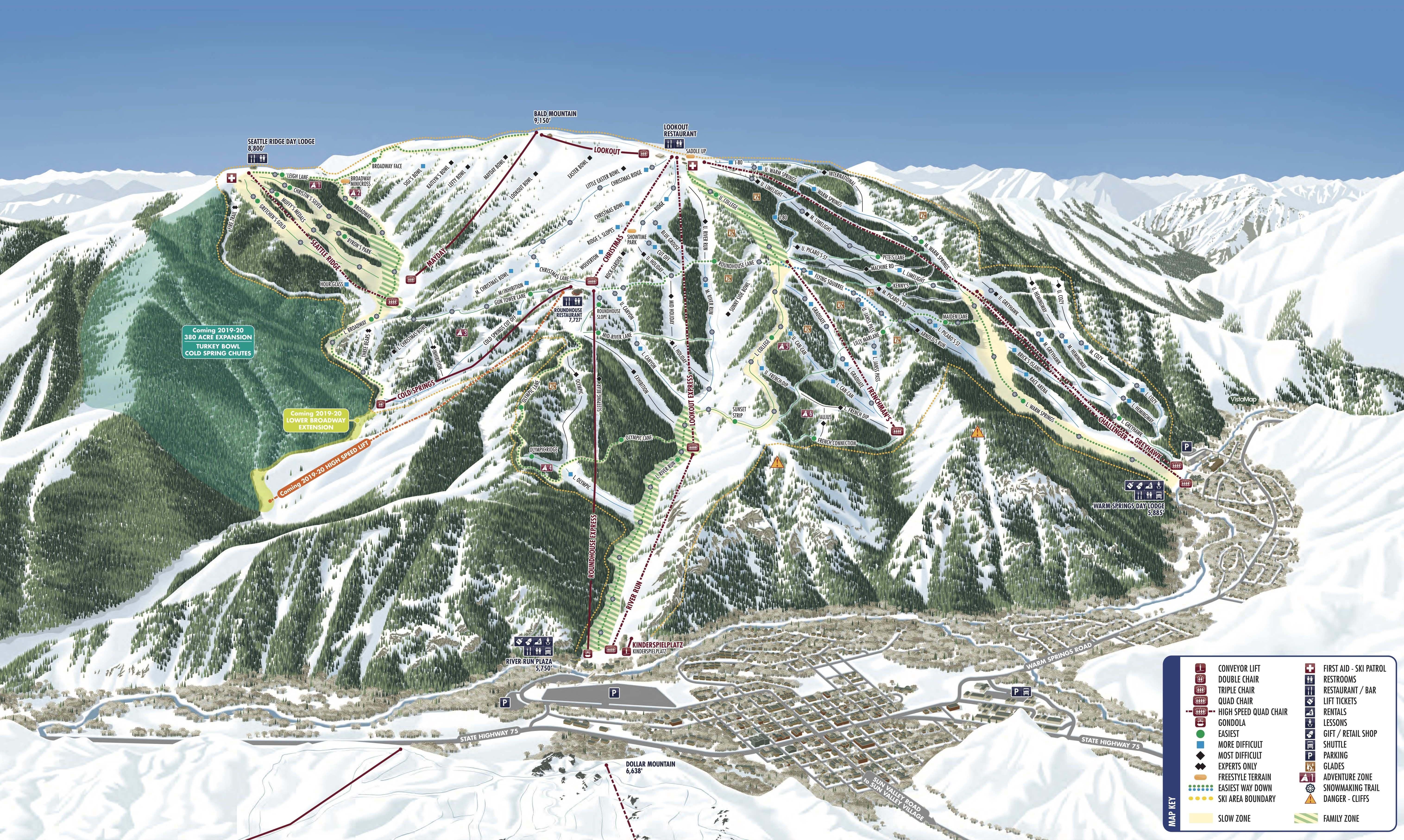 sun valley trail map | onthesnow