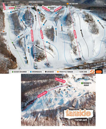 Chestnut Mountain Resort Mappa piste