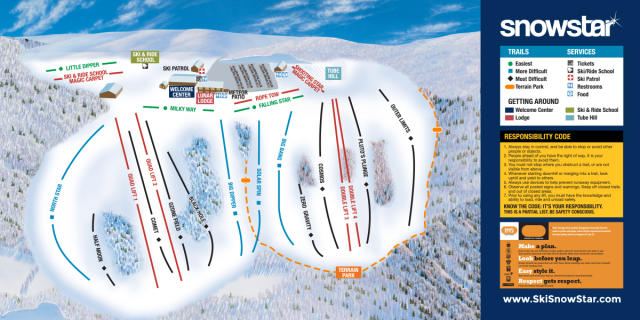Ski Snowstar Winter Sports Park Trail Map