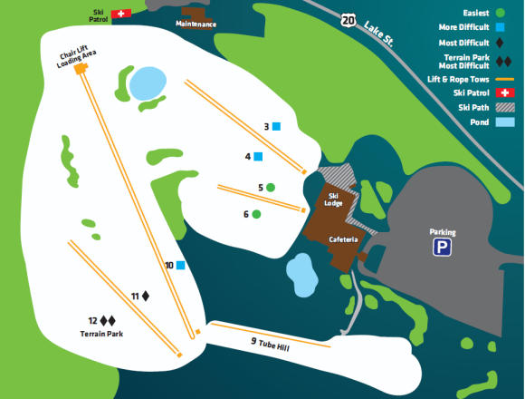 Villa Olivia Trail Map