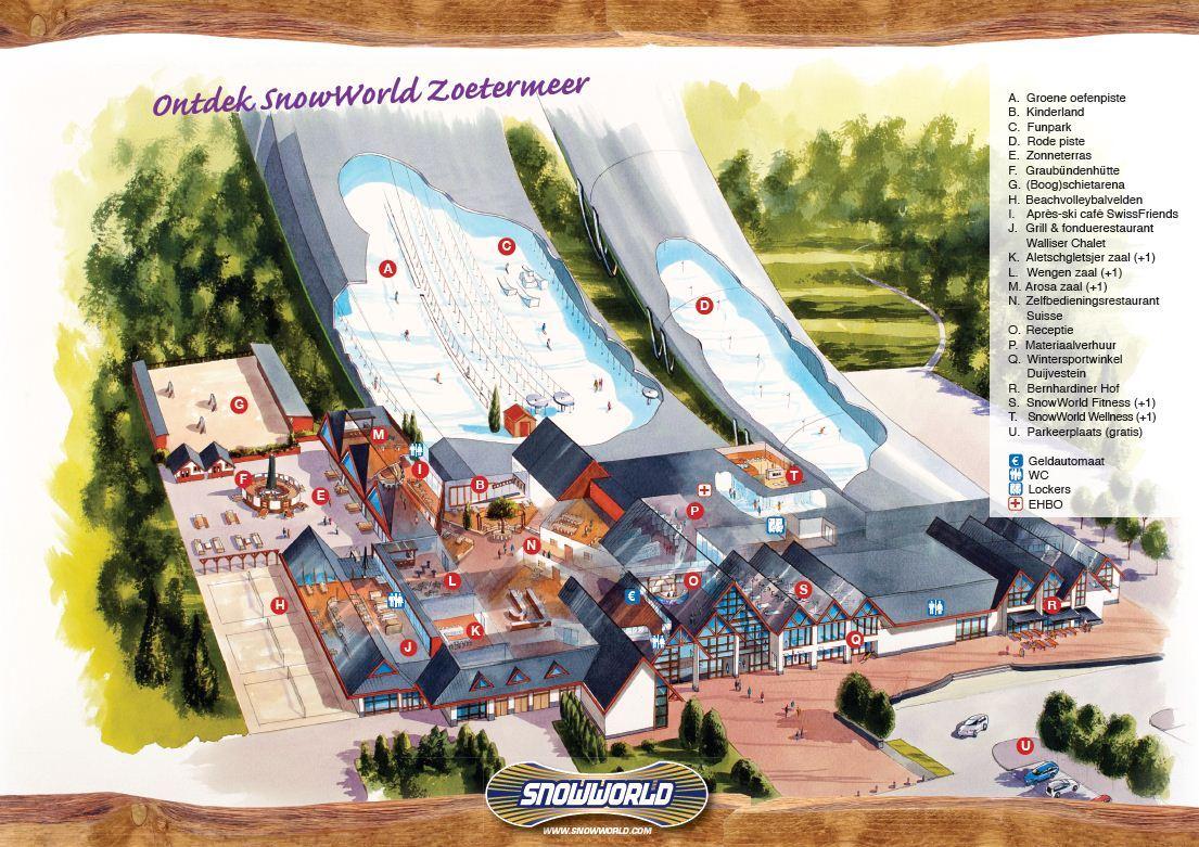 SnowWorld Zoetermeer Piste Map Plan of ski slopes and lifts