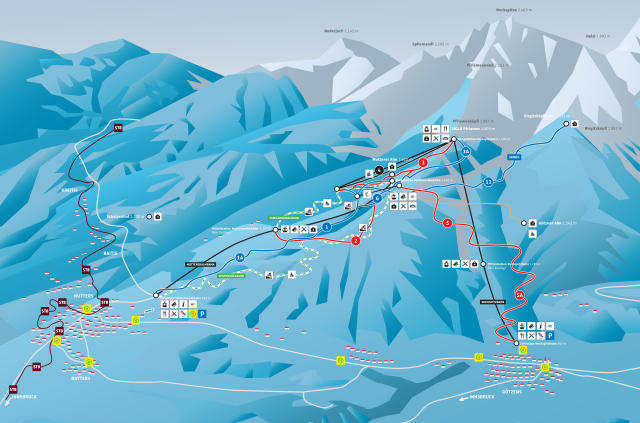 Muttereralm Trail Map