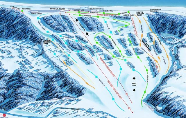 Sundown Mountain Mappa piste